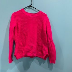 Forever 21 Hot Pink Cable Knit Sweater